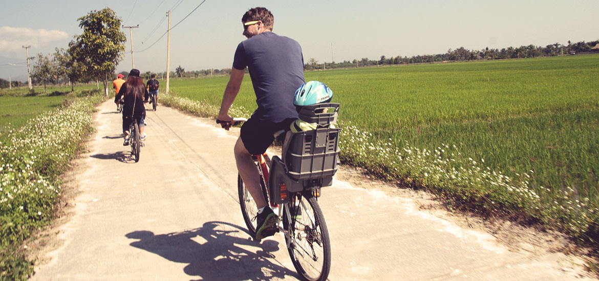 Fahrradtour mit kind in Chiang mai