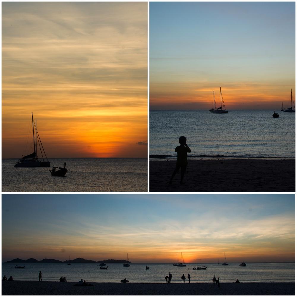Sonnenuntergang Ko Mok / Südthailand